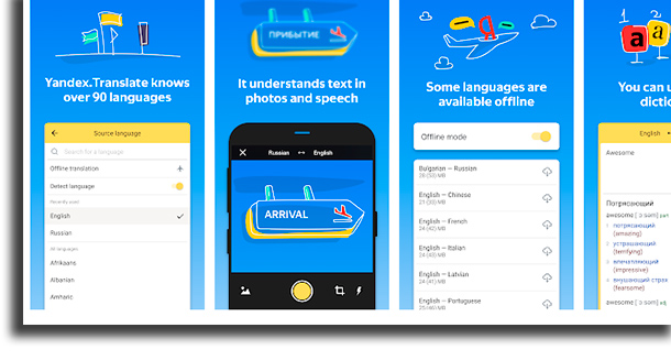Yandex.Translate aplicativos de tradução