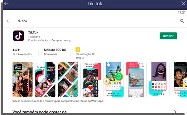Pagina do app na google play