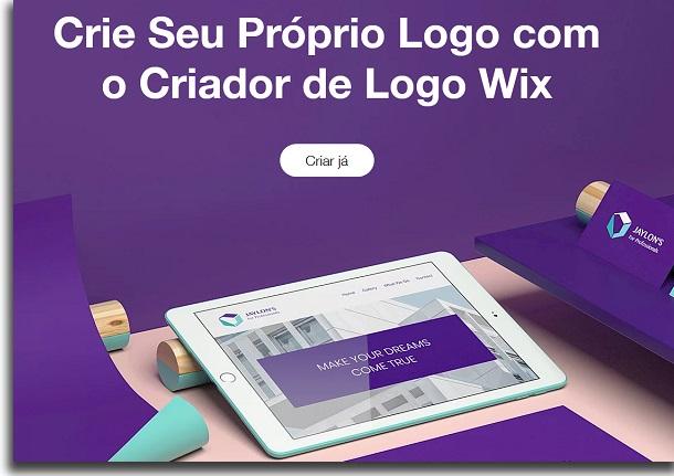 criar um logo wix