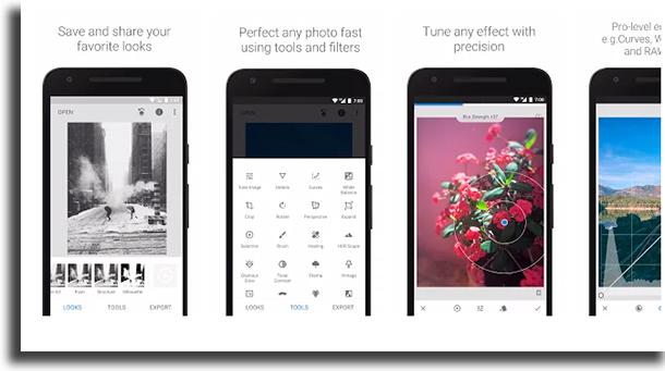 Snapseed aplicativos para escrever em fotos