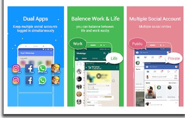 dois whatsapp no mesmo celular dual apps