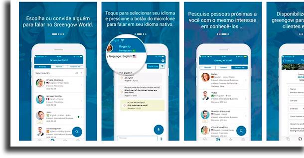 Greengow aplicativos para conversar com estrangeiros