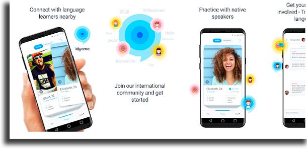 Idyoma aplicativos para conversar com estrangeiros