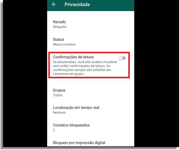 invisível no whatsapp privacidade