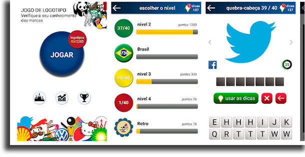 quiz jogo de logotipo jogos de perguntas e respostas