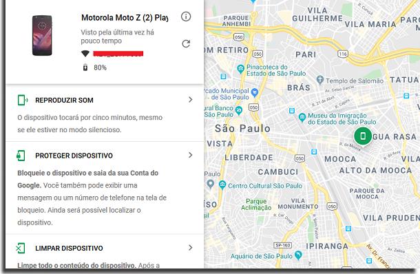 rastrear o android localização