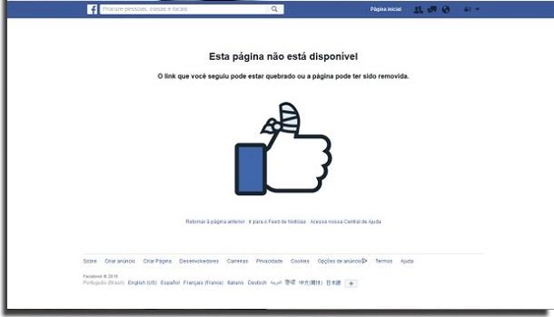 saber se alguém te bloqueou facebook