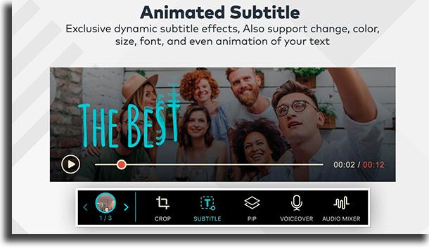 FilmoraGO colocar legendas nos vídeos do TikTok