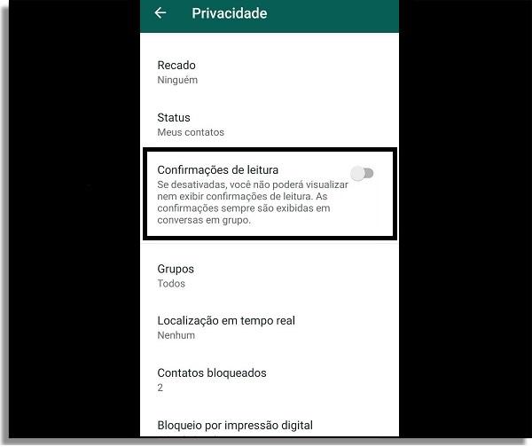 whatsapp offline confirmação