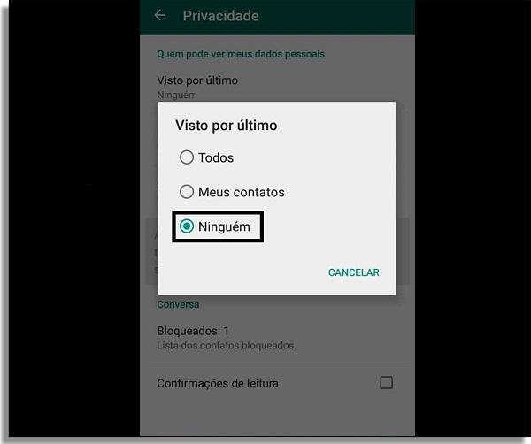 whatsapp offline visto por ultimo