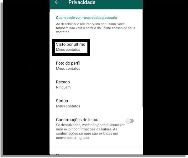 whatsapp opções offline