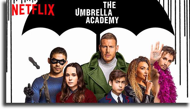 The Umbrella Academy (EUA) séries internacionais da Netflix mais vistas no Brasil