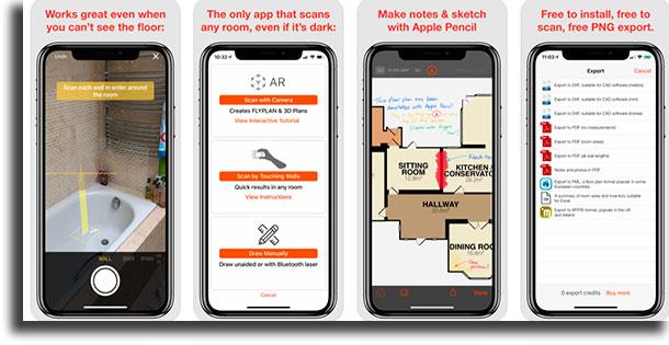 RoomScan aplicativos de arquitetura