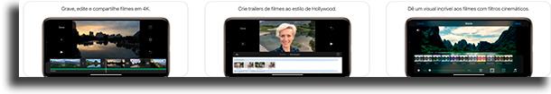 iMovie aplicativos para cortar vídeos