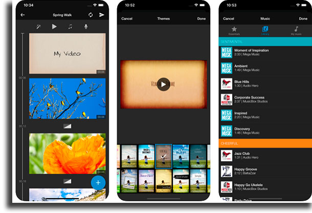 WeVideo aplicativos para cortar vídeos