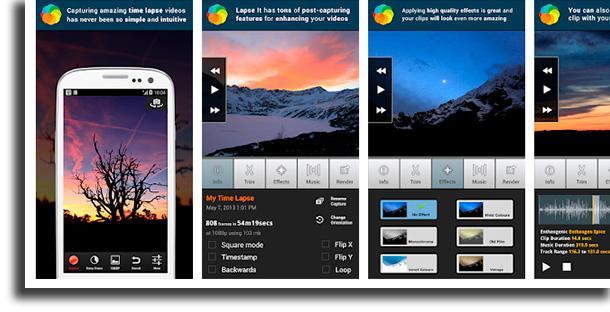 Lapse It aplicativos para acelerar e desacelerar vídeos