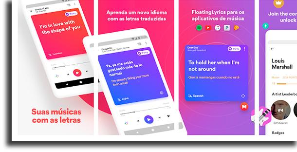 Musixmatch smartphone ver a letra de músicas no Spotify