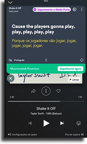 Musixmatch ver a letra de músicas no Deezer