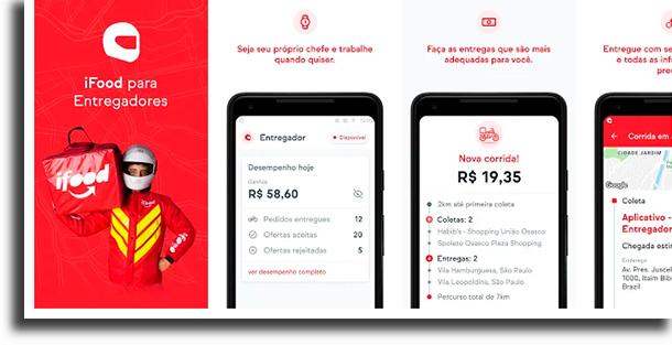 iFood para Entregadores aplicativos para fazer renda extra