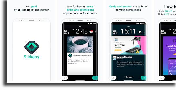 Slidejoy aplicativos para fazer renda extra