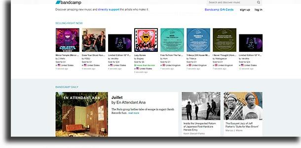 Bandcamp best websites to download music