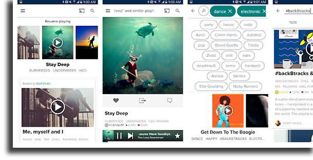 8tracks aplicativos para baixar música grátis