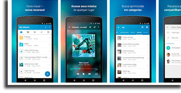 4Shared aplicativos para baixar música grátis