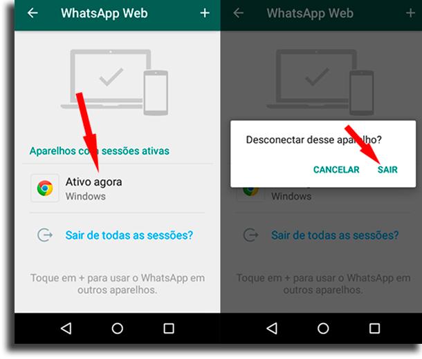 Sair do WhatsApp Web dicas e truques para o WhatsApp Web