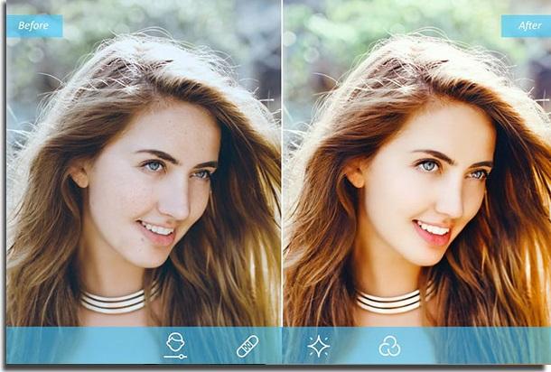 aplicativos para diminuir o nariz facetune