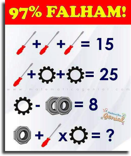 teste de matemática no celular com ferramentas