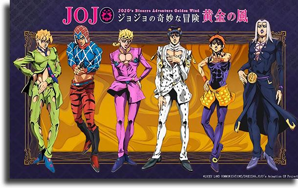 Jojo's Bizarre adventure vento aureo melhores animes de 2019
