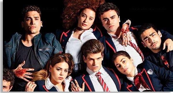 atores e atrizes de elite caracterizados como seus personagens na série