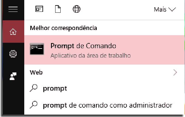 prompt de comando no windows
