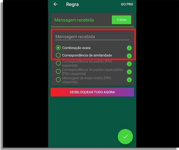 resposta automatica no whatsapp mensagem