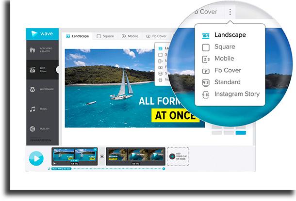 Wave.video aplicativos para cortar vídeos