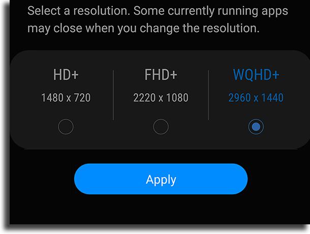 A resolução não está tão boa quanto o esperado problemas do Galaxy S9