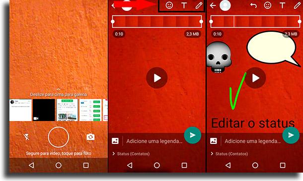 Como gravar novos vídeos para o status? 2 como colocar vídeos no status de WhatsApp