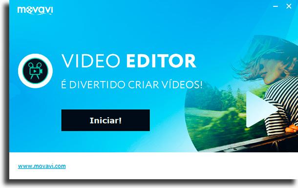 Iniciar aplicativo para edição de vídeo