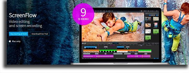 ScreenFlow melhores aplicativos para gravar lives