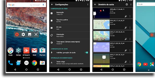 AZ Gravador de Tela melhores aplicativos para gravar lives