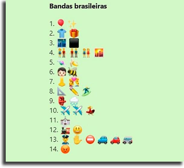 Desafio das bandas brasileiras melhores brincadeiras de desafios para WhatsApp