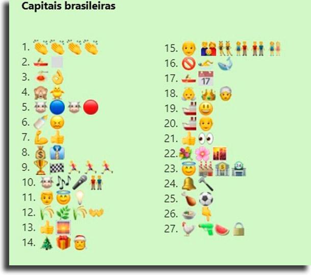 Desafio das capitais brasileiras melhores brincadeiras de desafios para WhatsApp