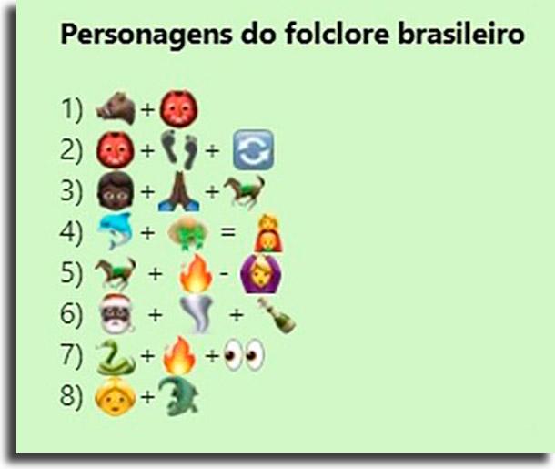 Desafio dos personagens do folclore brasileiro melhores brincadeiras de desafios para WhatsApp