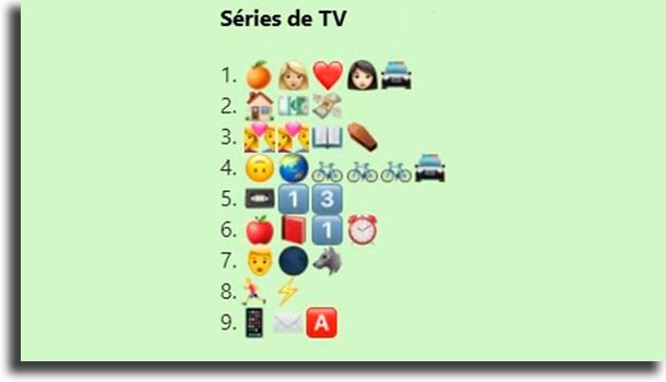 Desafio das séries de TV