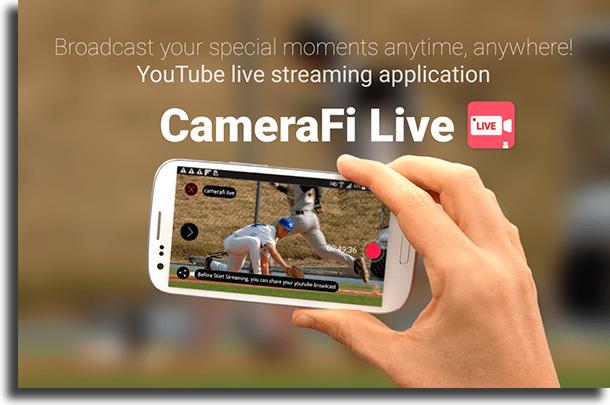 CameraFi Live apps hacer lives