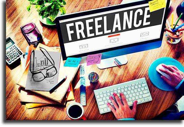 Freelance trabalhar em casa sendo seu próprio chefe