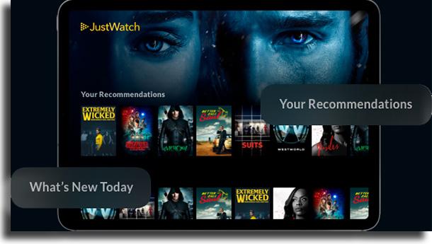 Recomendações como usar o justwatch