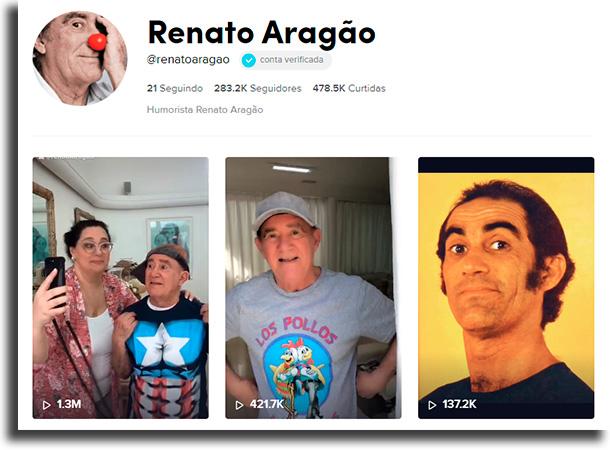 Renato Aragão maiores celebridades no TikTok