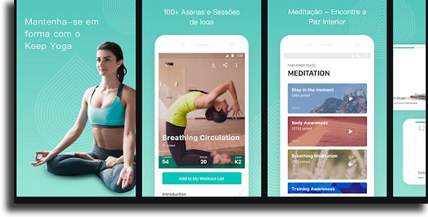 Keep Yoga apps de exercícios grátis