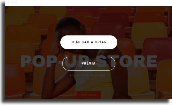 Escolha template 2 Como criar um site de vendas